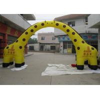 Wholesale Yellow 0.55 mm PVC Inflatable Airblown Arch , Giraffe Entrance Archway Custom from china suppliers