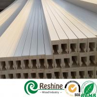 White color painted PVC plantation window louver shutter profiles