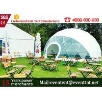 Wholesale Large elegant transparent geodesic dome tent camping tent for outdoor events from china suppliers