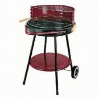 Wholesale Round BBQ Grill with trolley, simple grill BBQ, simple round charcoal grill from china suppliers