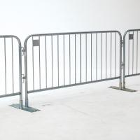 Wholesale 1.1m highx2.2m wide design, easy handle metal crowd control barrier from china suppliers