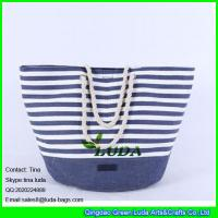 Wholesale LUDA 2015 promotional fashion paper cloth straw bag from china suppliers