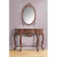 Wholesale Vintage Brown 1.2 Meter Console Table With Mirror Wood Home Furniture from china suppliers