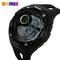 Wholesale EL Backlight Mens Digital Watches Black Case With Black Band from china suppliers