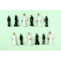 Wholesale Painted Architectural Scale Model People Figures , Train Passenger Scale OO  Arab  2.8cm from china suppliers