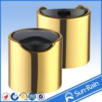 Wholesale 28/410 28/415 Shiny gold plastic bottle cap closure with aluminium collar from china suppliers