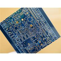 Wholesale Blue PCB Built On FR-4 With 4 Layer Copper and Immersion Gold from china suppliers
