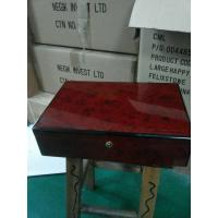 Wholesale Recycled Presentation Gift Wooden Jewelry Box Burgundy Lacquer Painting from china suppliers