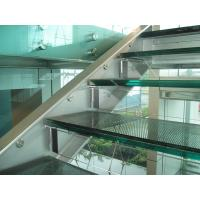 Wholesale 12mm+1.52pvb+12mm Undular Pattern Anti Slip Glass Flooring For Exhibition Hall from china suppliers