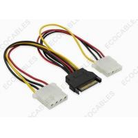 Wholesale SATA 15 Pin Male To 4 Pin Molex Cable Assembly / Electronic Wire Harness from china suppliers