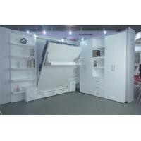 Wholesale Double Wall bed Vertical Open With Boolshelf , White Color , E1 Grade Material from china suppliers