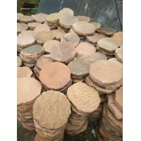 Wholesale Pink Sandstone Round Stepping Stones Garden Paving Stone Sandstone Landscaping Patio from china suppliers