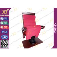 Wholesale Air Conditioner Out Put Leg Church Hall Chairs With Triangle Wooden Armrest from china suppliers