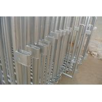Wholesale Standard Crowd Control Barriers 1.1m x 2.5m hot dipped galvanized and pvc coated  OD 32mm outer pipes and OD 20mm from china suppliers