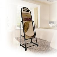 Wholesale Clothes Store Black Fitting Room Mirrors Easy Move Home Fitting Furniture With Wheels from china suppliers