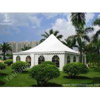 Wholesale Recreation White PVC Fabric Cover High Peak Tents for Fun on Grassland from china suppliers
