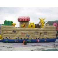 Wholesale Inflatable Ship Playground With Cartoon Animals For Kids Amusement from china suppliers