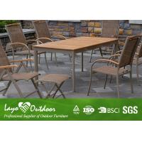 Wholesale All Weather Faux Wood Patio Furniture Water Proof Garden Furniture Wooden L160 X W90 X H75 from china suppliers