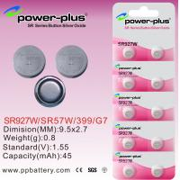 Wholesale SR Series SR927W  1.55V 45mAh Silver Oxide Coin Cell Batteries For Medical Instrument SR57W / 399 / G7 from china suppliers