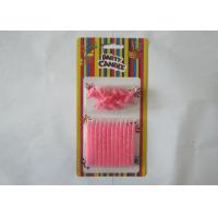 Wholesale Column Shining Pink Glitter Candles , Kids Happy Birthday Cake Candles Smokeless from china suppliers