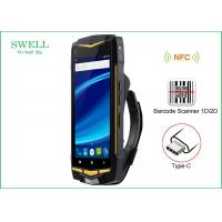 Wholesale 5 inch Android Rugged 4G Smartphone Walkie Talkie Phone With NFC 1D 2D Scanner from china suppliers