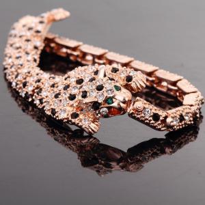 "Wholesale Ref No.: ""205001 Gold leopard Silver Leopard  Elements Swarovski bracelet best online jewellery store australia jewelry from china suppliers"