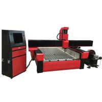Wholesale Stone engraving cnc router machine with worktable size 1300*2500mm and turning rotary KC1325R-S from china suppliers