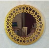 Buy cheap Golden round antique wall mirror from wholesalers