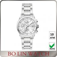 Wholesale 3 ATM Brushed Business Women'S Silver Bracelet Watch Stainless Steel Strap from china suppliers
