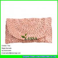 Wholesale LUDA 2016 fashion handcraft handbag cornhusk straw made clutch bag from china suppliers