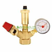 Wholesale Free Shipping Brass Safety Valve,Safety Group Set,Air Vent Valve,Boiler Valve,1.5 Bar, 3 Bar Safety Valve,Use For Boiler from china suppliers