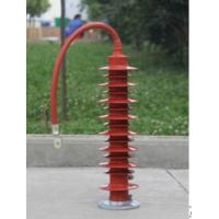 Wholesale Insulated Polymer Station Class Surge Arrester , Metal Oxide High Voltage Surge Arrester from china suppliers