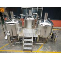 Wholesale Steam Heated brewhouse Equipment 1000L Rock Wool / PU Foam Insulation from china suppliers