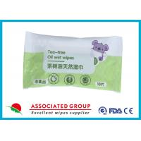 Wholesale Alcohol Free Tea Tree Oil Wet Wipes , Natural Vera Baby Cleaning Wet Tissue Wipes 10pcs*6 from china suppliers