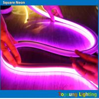 Buy cheap high quality led light 240v pink square 16*16m led neon flex rope from wholesalers