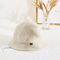 Wholesale High Quality Winter Cream Color Unisex Terry Cloth Soft Fabric Bucket Hat Cap from china suppliers