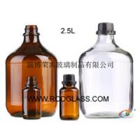 Wholesale 2.5L amber reagent glass bottle for chemicals from china suppliers