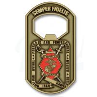 Wholesale debossed Logo Round Led Key-Light copper Promotional gifts Customized Bottle Openers from china suppliers