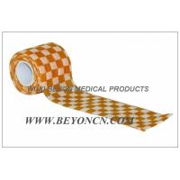 Wholesale Cohesive Elastic Bandage Self - Adhesive Wrap Orange Check  Custom Printed from china suppliers