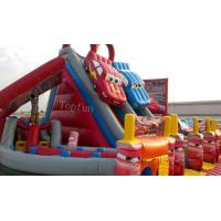 Wholesale Exciting Car Race Inflatable Slide , Customised Inflatable PVC Tarpaulin Slide from china suppliers
