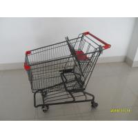 Wholesale Durable Grocery Shopping cart trolley With welded low tray and 4x4inch swivel lfat casters from china suppliers