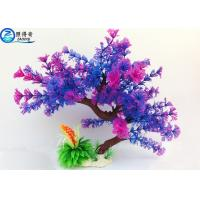 Wholesale Colorful Plastic Tree Artificial Aquarium Plants Fish Tank Decorations Eco Friendly from china suppliers