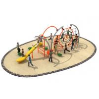 Buy cheap 710*350*250cm Rope Climbing Playground Equipment Middle Size With Slide TQ-TN504 from wholesalers