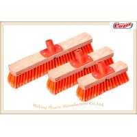 Wholesale 40cm Wooden Block Durable Sweeping Brooms PP Screw Stiff Orange from china suppliers