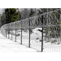 Wholesale Single / Double Twisted Razor Barbed Wire Fence  Low Carbon Steel With PVC Coated from china suppliers