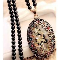 Wholesale Lovely Design Opal Long Sweater Chain Accessories Pendant Necklace from china suppliers