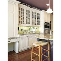 Wholesale Newest design solid wood kitchen cabinets granite countertop island from china suppliers