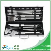 Wholesale Stainless steel bbq grill tool set with aluminum box 13 pcs s/s BBQ set pack in Alu case from china suppliers