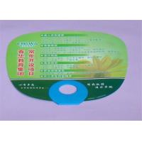 Quality Round Plastic PP Custom Printed Hand Fans Offset Printing For Decorative Display for sale