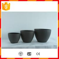 Wholesale Light weight home decorative fiberglass clay flower pots with rectangle shape design from china suppliers